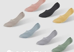 Antibacterial flat socks for women