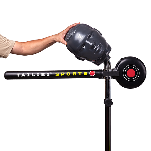 Spinning Rapid-Reflex Boxing Bar with dummy head details